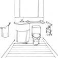 Coloriage Toilette 4
