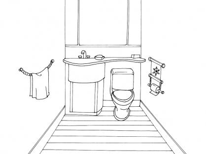 Coloriage Toilette 4