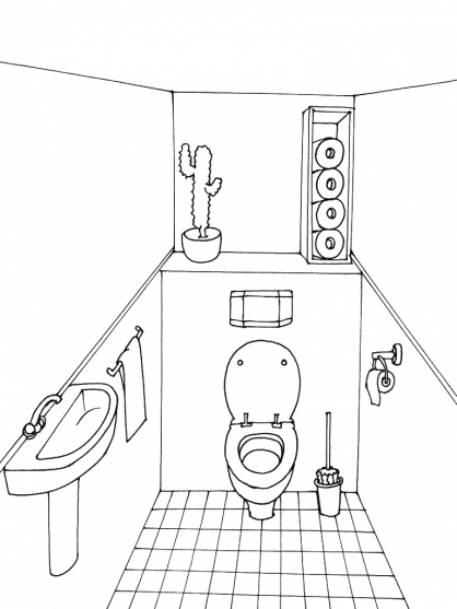 Coloriage Toilette 6
