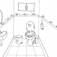 Coloriage Toilette 7
