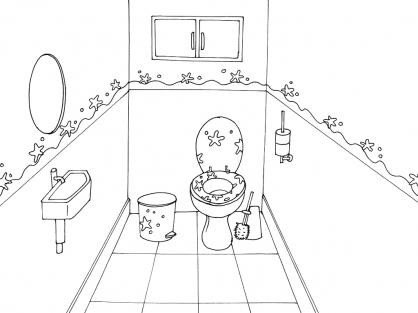 Coloriage Toilette 7