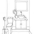 Coloriage Toilette 8