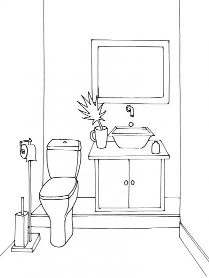 Coloriage Toilette 8