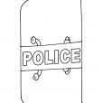 Coloriage Accessoire policier 8