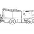 Coloriage Accessoire pompier 1