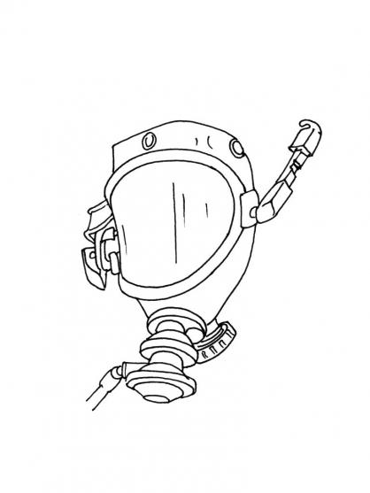 Coloriage Accessoire pompier 4