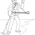 Coloriage Chanteur 2