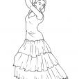 Coloriage Danseuse 11