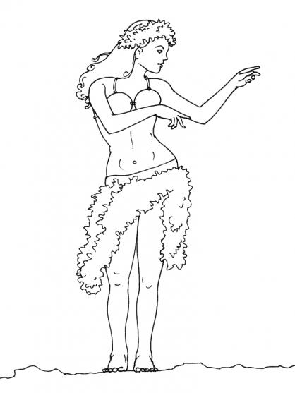 Coloriage Danseuse 12