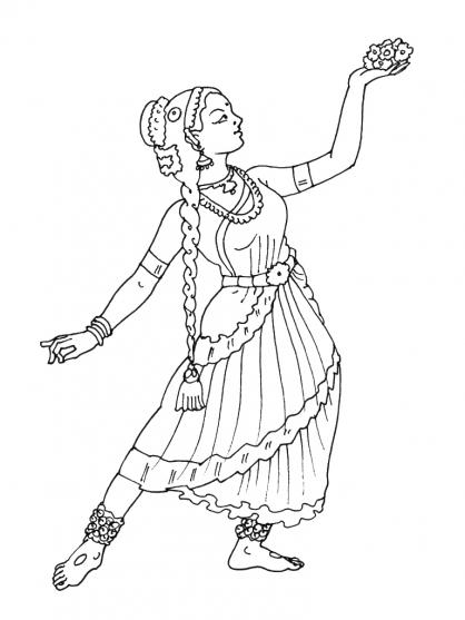 Coloriage Danseuse 13