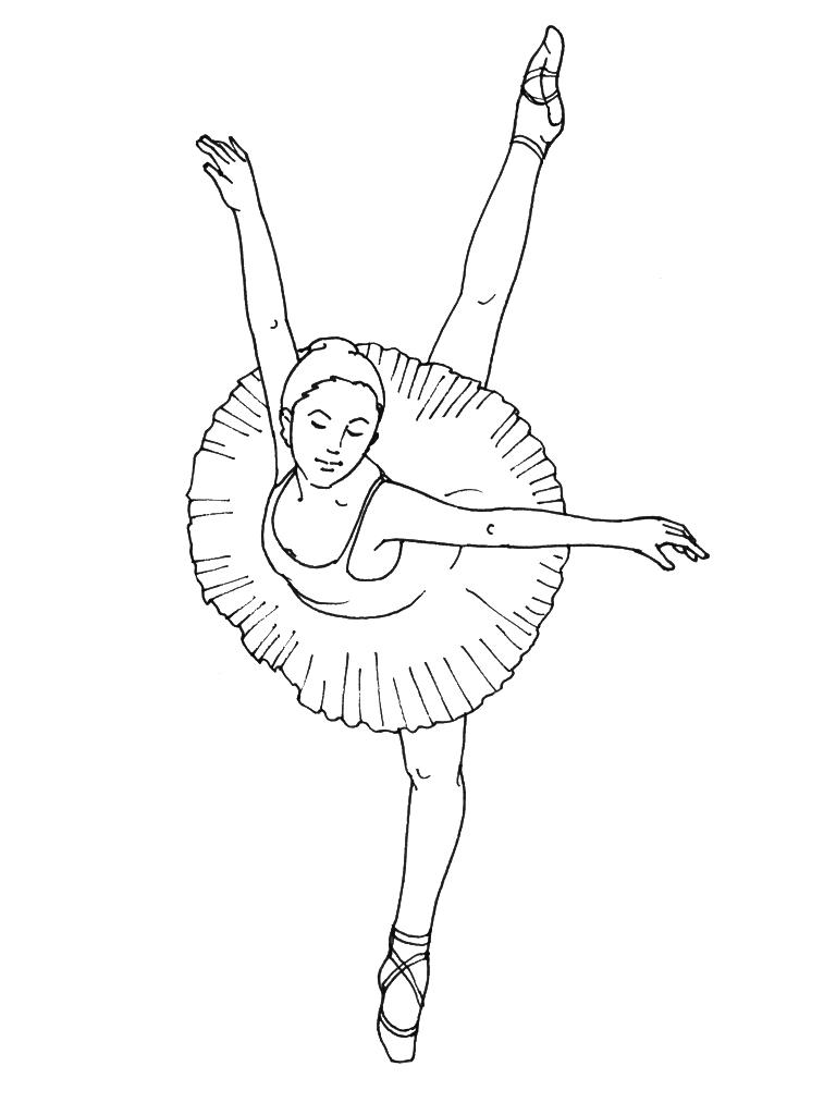 Coloriages de danseuse toile - Danseuse coloriage ...