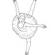 Coloriage Danseuse 14