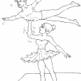 Coloriage Danseuse 16