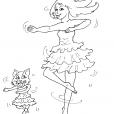 Coloriage Danseuse 19