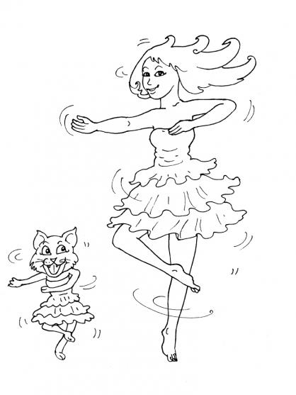 Coloriage danseuse 19 coloriage danseuses coloriage - Danseuse coloriage ...
