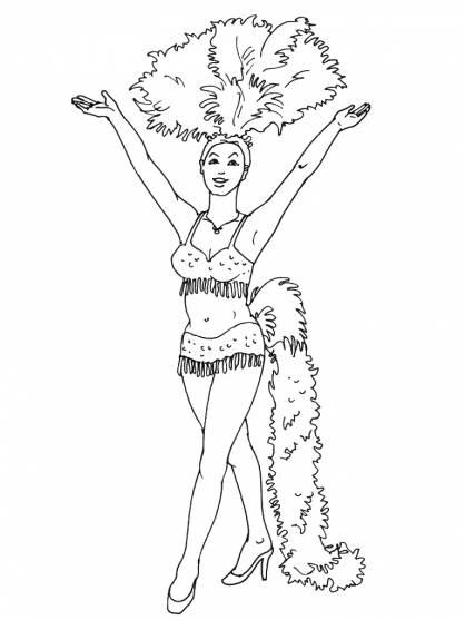 Coloriage Danseuse 2