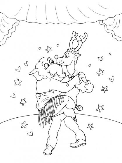 Coloriage Danseuse 29