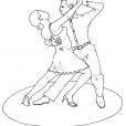 Coloriage Danseuse 3