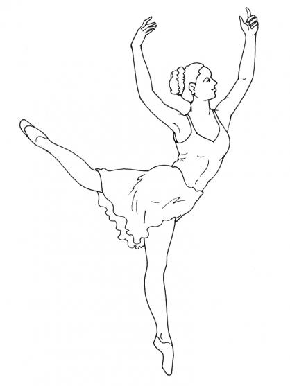 Coloriage Danseuse 4