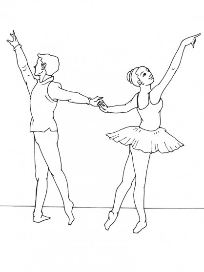Coloriage Danseuse 7