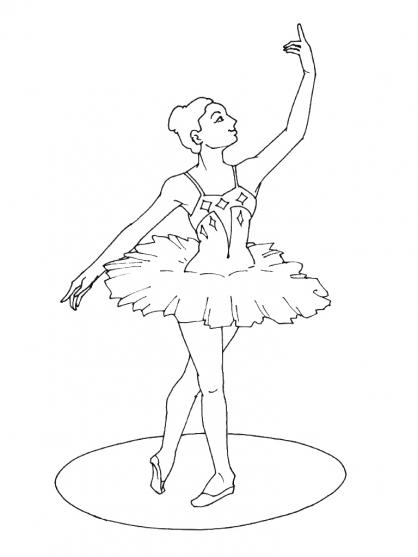 Coloriage Danseuse 8