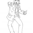 Coloriage Danseuse 9