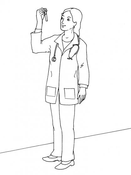 Coloriage docteur 7 coloriage docteurs coloriage metiers - Coloriage docteur ...