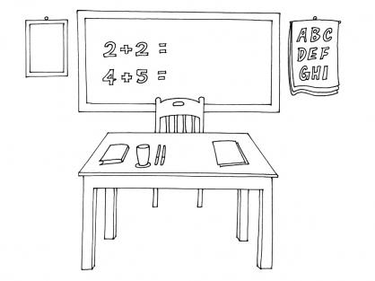Coloriage Ecole 1