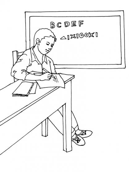 Coloriage Ecole 9