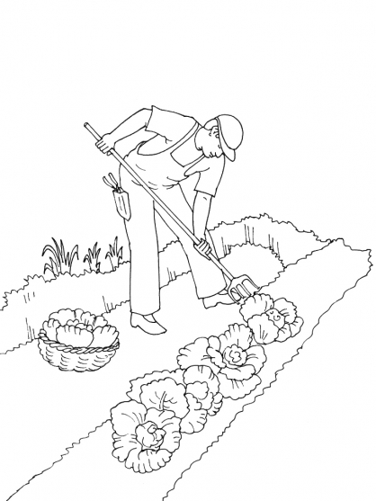 Coloriage jardinier 10 coloriage jardiniers coloriage - Dessin de potager ...