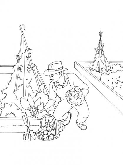 coloriage jardinier 13 coloriage jardiniers coloriage metiers. Black Bedroom Furniture Sets. Home Design Ideas