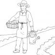 Coloriage Jardinier 14