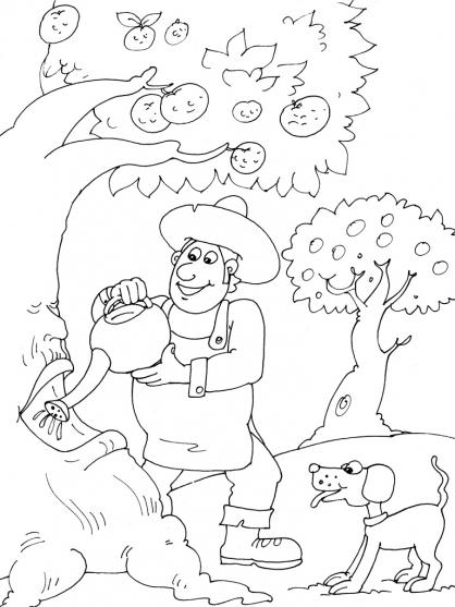Coloriage Jardinier 16