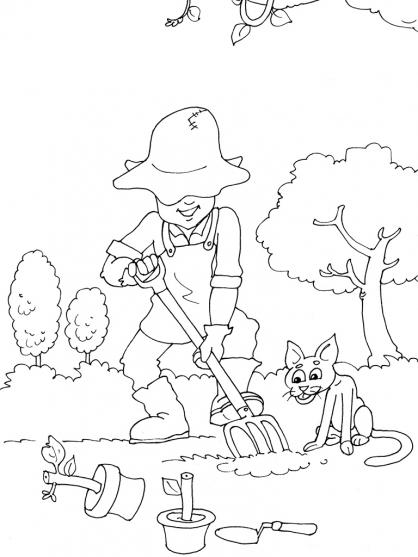 Coloriage Jardinier 17