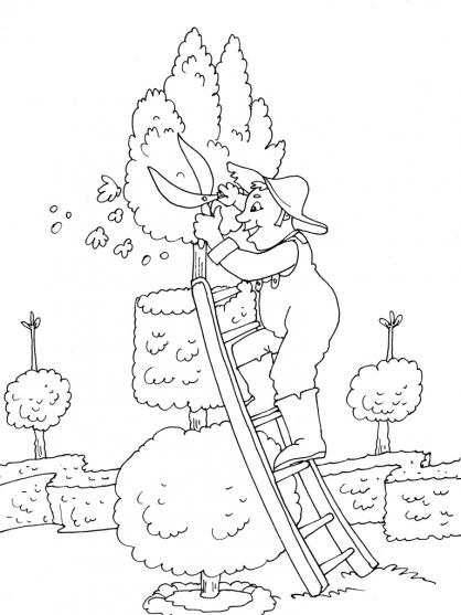 Coloriage Jardinier 18