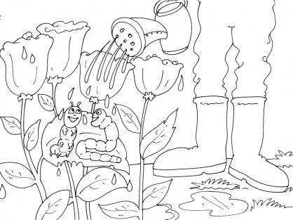 Coloriage Jardinier 21