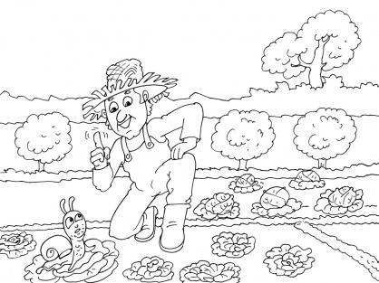 Coloriage Jardinier 22
