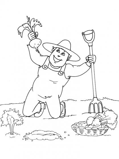 Coloriage Jardinier 23