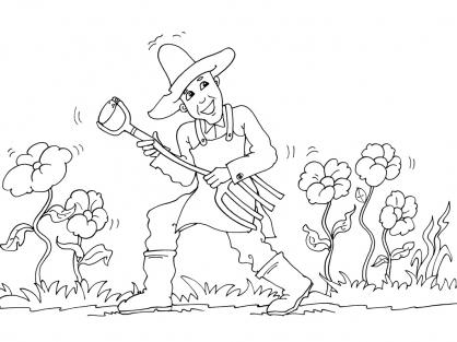 Coloriage Jardinier 26