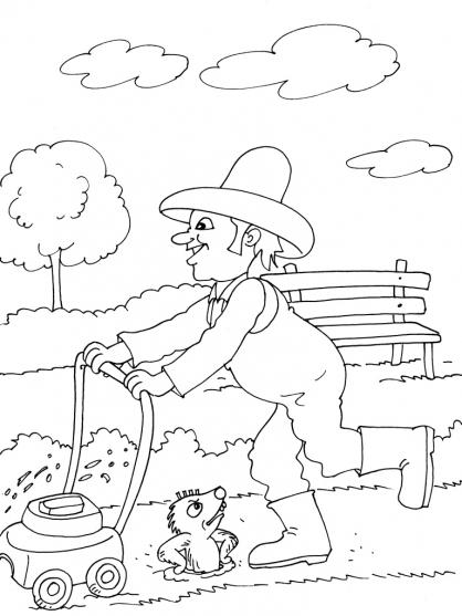 Coloriage Jardinier 29