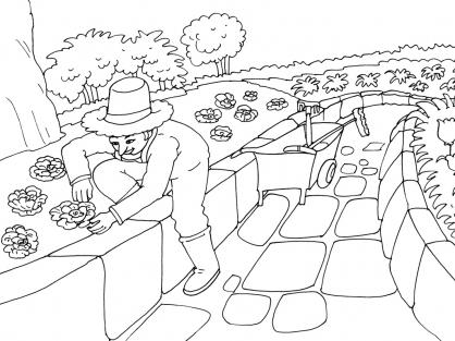 Coloriage Jardinier 30