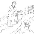 Coloriage Jardinier 5