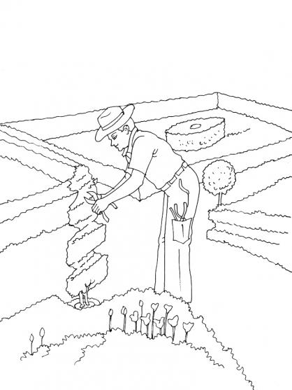 Coloriage Jardinier 6