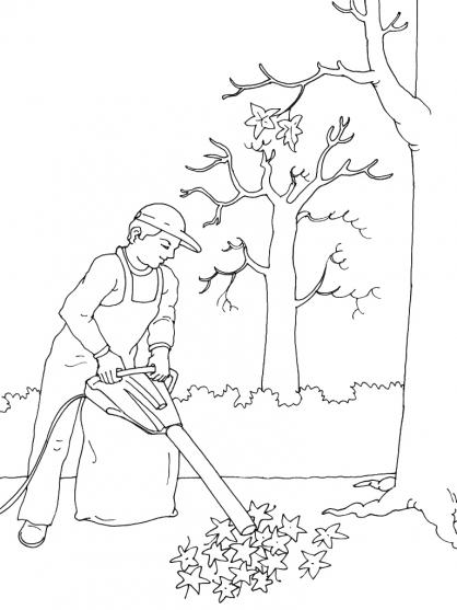 Coloriage Jardinier 7