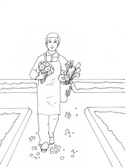 Coloriage Jardinier 8