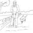 Coloriage Jardinier 9
