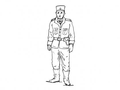 Coloriage Policier 10