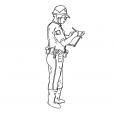 Coloriage Policier 12