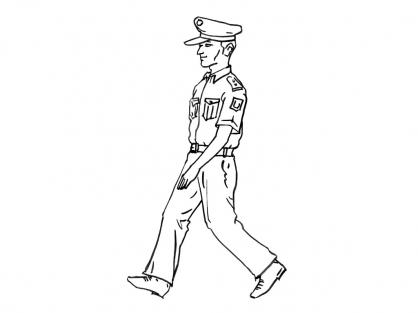 Coloriage Policier 13