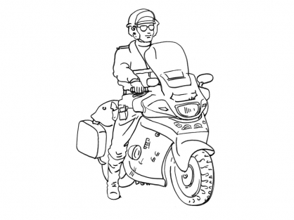 Coloriage policier 14 coloriage policiers coloriage - Dessin de motard ...